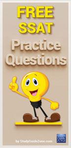 SSAT Test Questions