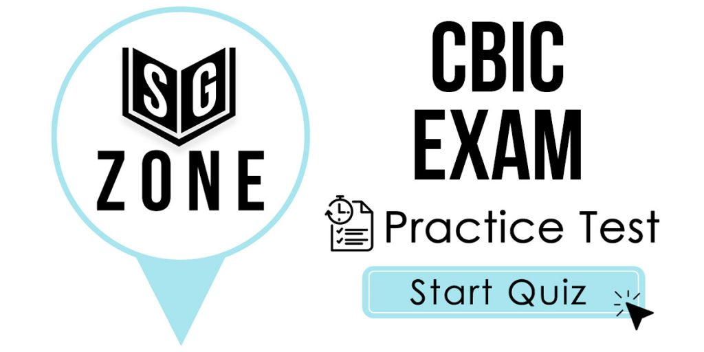 Click here to start our CBIC Exam Practice Test