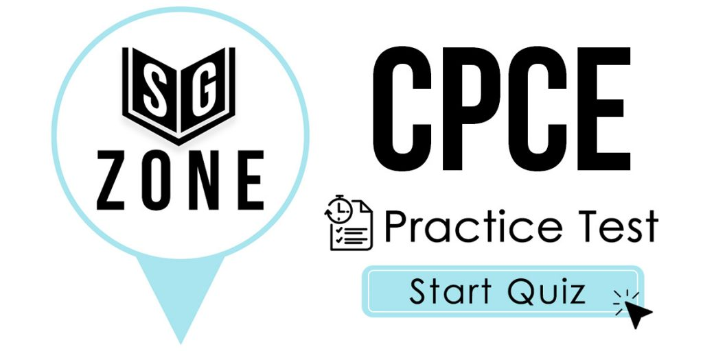 Click here to start our CPCE Practice Test