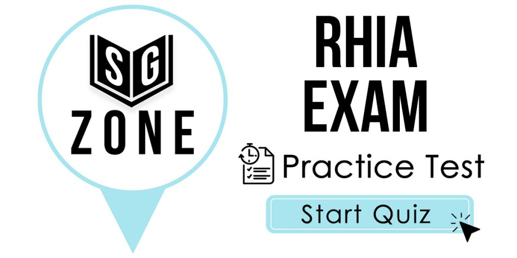 Click here to start our RHIA Exam Practice Test