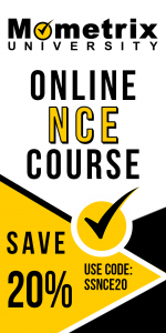 Get 20% off on the Mometrix University NCE online course