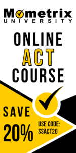 Ad for the Mometrix ACT online course