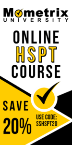 Ad for the Mometrix HSPT online course